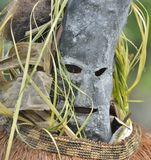Asmat people mask for the rite. Ancestors embodied in spirit mask  Jungle of New Guinea. Indonesia Royalty Free Stock Image