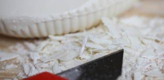 asmr Geschnittene Seife relax Beschaffenheit von Seifenschnitzeln lizenzfreies stockfoto