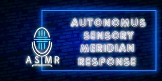 ASMR Neon Vector Text. Autonomous sensory meridian response neon sign, design template, modern trend design, night neon. ASMR Neon Text Vector. Autonomous vector illustration