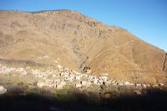 Asni by, hög kartbok Arkivbild