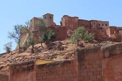 By Asni, nationalpark Toubkal i Marocko Arkivfoton