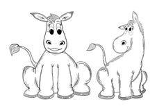 Asno dos desenhos animados Imagens de Stock