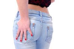 Asno femenino provocativo Foto de archivo libre de regalías