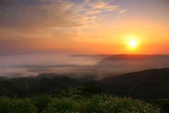Aso of the morning glow Royalty Free Stock Photos