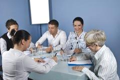 Asocia la reunión de negocios Fotografía de archivo