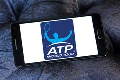 Asociación de los profesionales de tenis, logotipo del ATP imagen de archivo libre de regalías