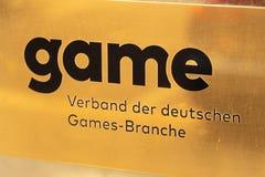 Asociación del JUEGO de la industria alemana de los juegos imagen de archivo libre de regalías