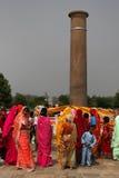 Asokan pillar in Lumbini Stock Photo