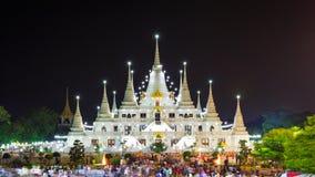 Asokaram świątynia, Samutprakarn prowincja, Tajlandia Zdjęcia Stock