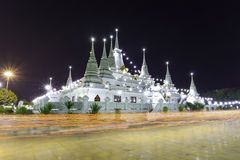 Asokaram Temple, Samutprakarn Province, Thailand. Buddhist in Thailand come pray in Magha Puja Day at Asokaram Temple, Samutprakarn Province Stock Image