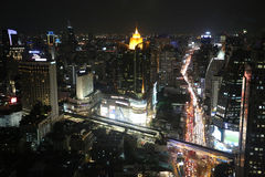 Asoke junction nightview Stock Images