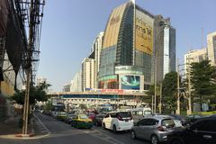 Asoke Montri Road  street view in  thailand. Royalty Free Stock Photography