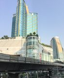 Asoke Montri Road  street view in  thailand. Royalty Free Stock Images