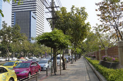 Asoke Montri Road  street view in  thailand. Royalty Free Stock Photo