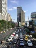 Asoke Montri Road  street view in  thailand. Royalty Free Stock Photos