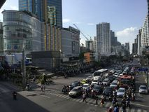 Asoke Montri Road  street view in  thailand. Royalty Free Stock Image