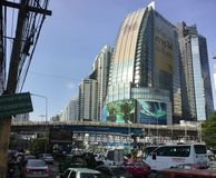 Asoke Montri Road  street view in  thailand. Stock Images