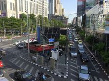 Asoke Montri Road  street view in  thailand. Stock Photo