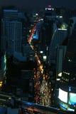 Asoke road nightview Stock Image