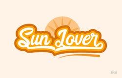 asolee el icono anaranjado del logotipo del texto de la palabra del color del amante stock de ilustración