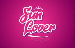 asolee el icono del diseño del rosa de la tipografía del texto de la palabra del amante ilustración del vector