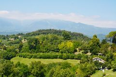 Asolo hills and houses, Italy Royalty Free Stock Photo