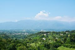 Asolo hills and landscape, Italy Royalty Free Stock Images