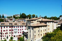 Asolo landscape and houses, Italy Stock Images