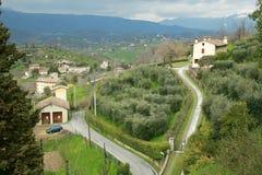 Asolo som är bekant som pärlan av Veneto italy Arkivfoton