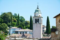 Asolo town and tower, Italy Stock Images