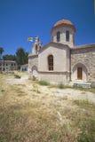 asomatos教会克利特海岛rethymnon 库存照片