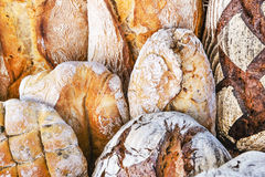 Asorted breads background Royalty Free Stock Image