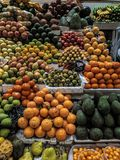Fruits and vegetables in market royalty free stock photo