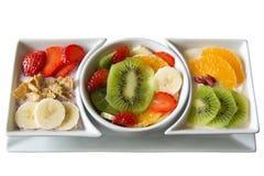 Asortowana Świeża owoc z jogurtem Obraz Royalty Free