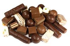 asortowane czekolady Zdjęcia Royalty Free