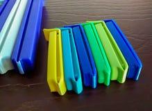 Asortowane kolorowe klingeryt klamerki dla zamykać torby obrazy royalty free