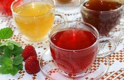 asortowane owocowe zielarskie herbaty Fotografia Stock