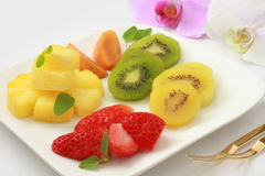 Asortowane Rżnięte owoc obraz stock