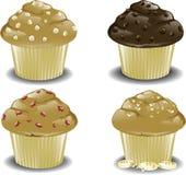 Asortowani śniadaniowi muffins Obrazy Royalty Free