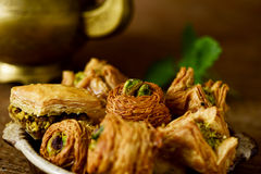 Asortowani baklava ciasta Fotografia Stock