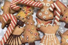 Asortowani boże narodzenie miodownika ciastka zdjęcia royalty free