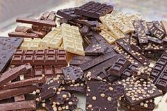 Asortowani czekoladowi bary Obraz Royalty Free