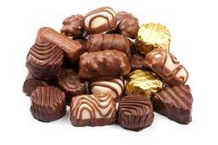 Asortowani czekoladowi cukierki zdjęcie stock