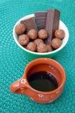 Asortowani czekoladowi opłatki zdjęcie stock