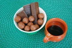 Asortowani czekoladowi opłatki obrazy stock