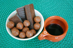 Asortowani czekoladowi opłatki zdjęcia royalty free
