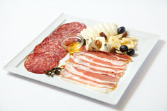 Asortowani delikatesów mięsa, ser i Obraz Stock