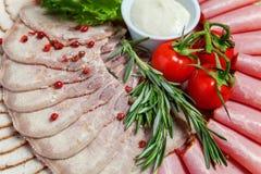 Asortowani mięsa i baleronu bakalie Zdjęcie Stock