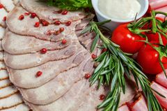 Asortowani mięsa i baleronu bakalie Fotografia Stock