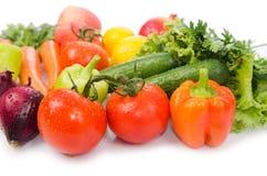 Asortowani warzywa odizolowywający na bielu Zdjęcia Royalty Free